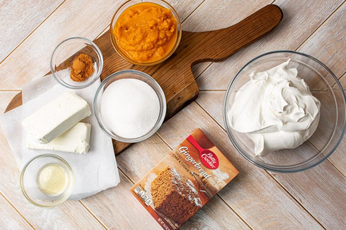 ingredients for Pumpkin Trifle