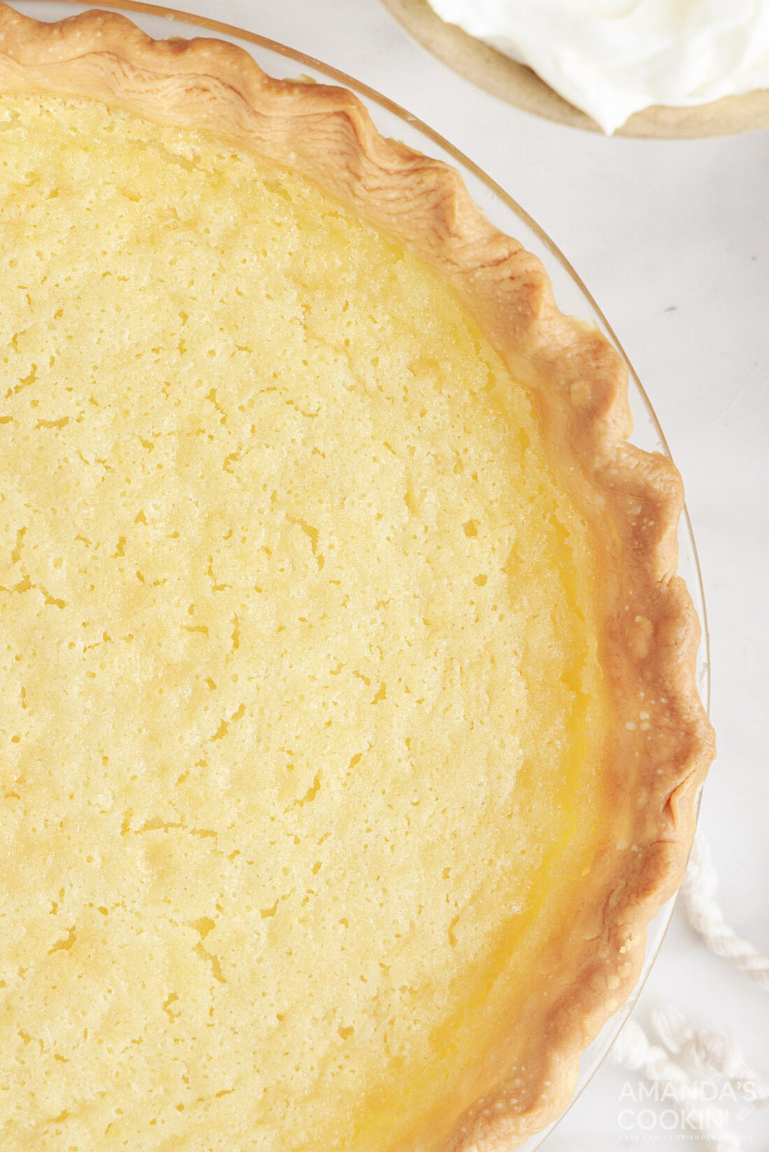overhead view of Southern Buttermilk Pie