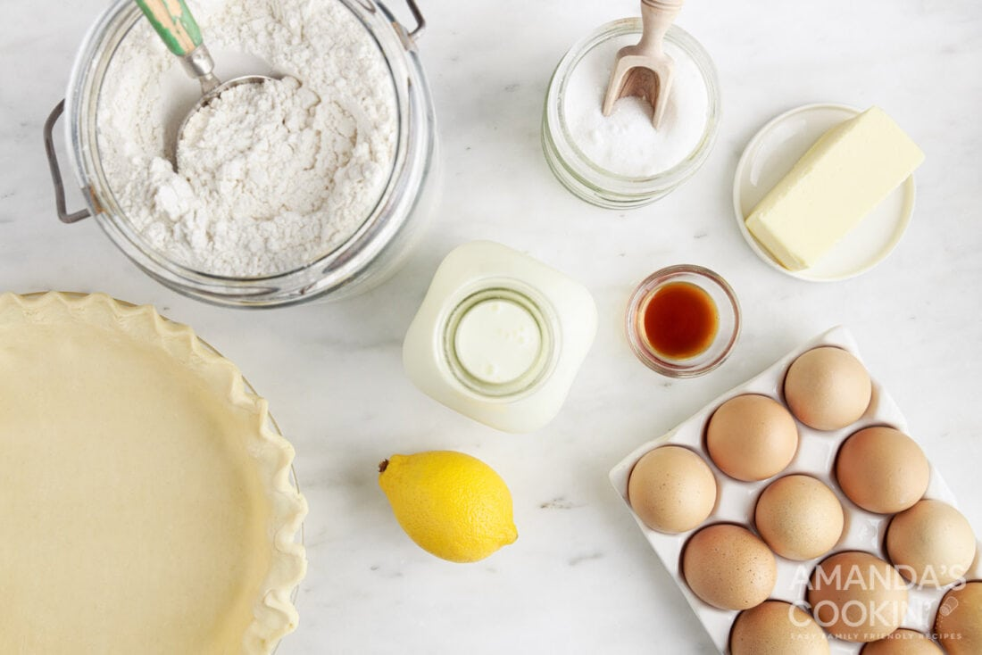 ingredients for Southern Buttermilk Pie