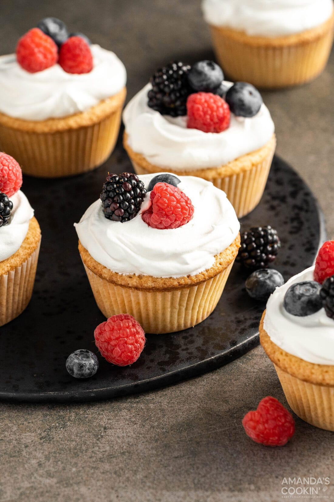 Pound Cake Cupcakes on a plate