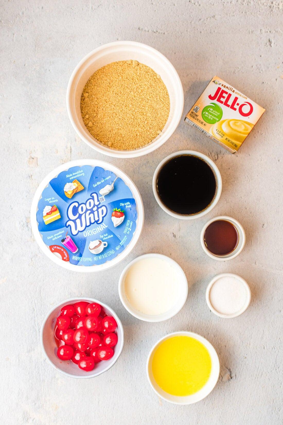 ingredients for Root Beer Float Pie