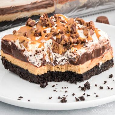 Chocolate Peanut Butter Lasagna
